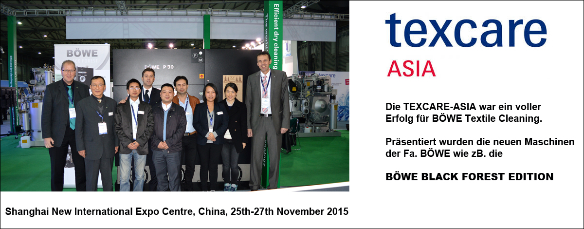 BÖWE Textile Cleaning GmbH - Texcare Asia 2015